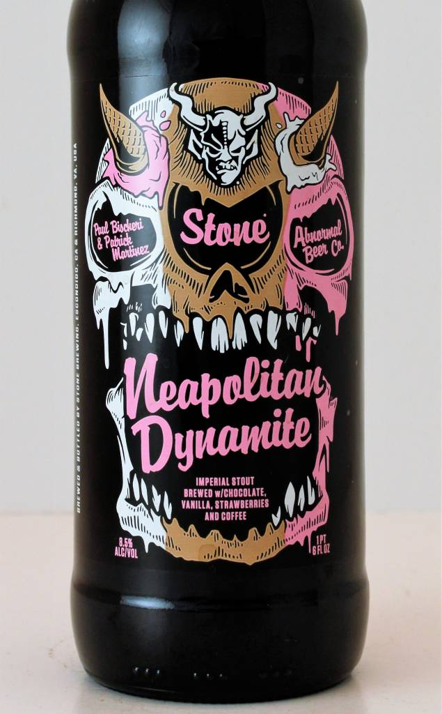 """Stone Brewing/Abnormal Beer Co. """"Neapolitan Dynamite"""" Imperial Stout, California"""
