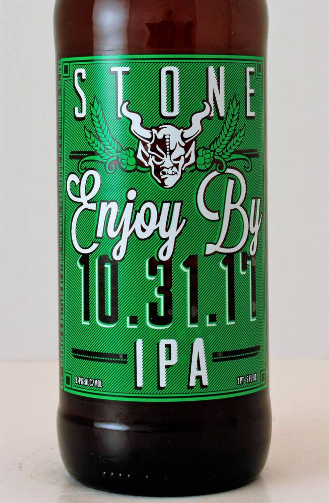 """Stone Brewing """"Enjoy By 10.31.17"""" Unfiltered IPA, California - 22oz"""