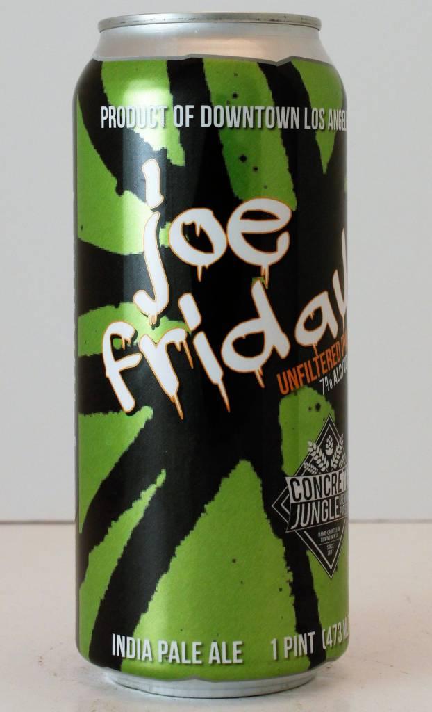 "Concrete Jungle ""Joe Friday"" Unfiltered IPA"