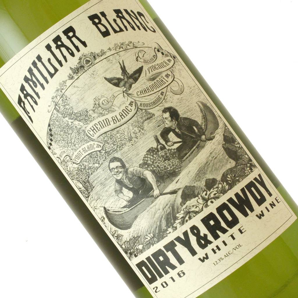 "Dirty & Rowdy 2016 ""Familiar Blanc"" White Wine, California"