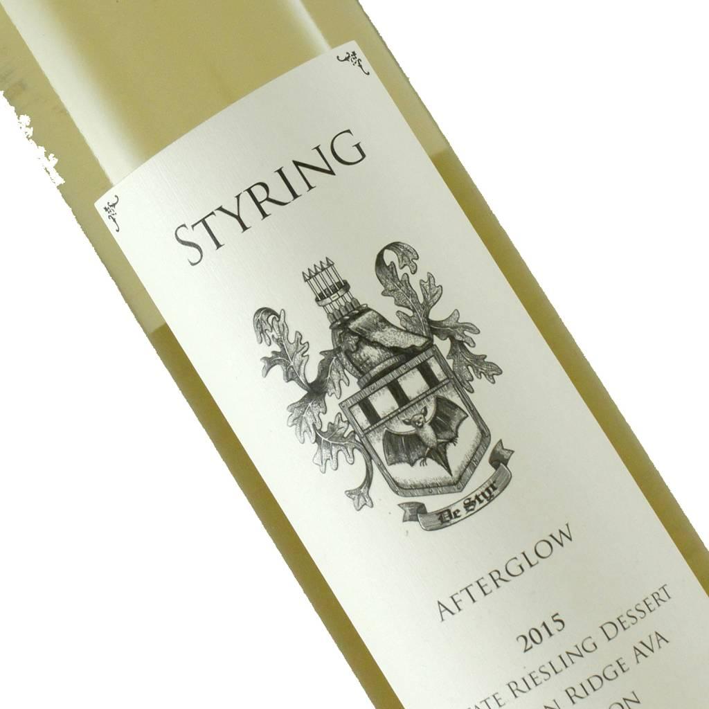 Styring Afterglow 2015 Estate Riesling Dessert, Ribbon Ridge, Oregon - Half Bottle