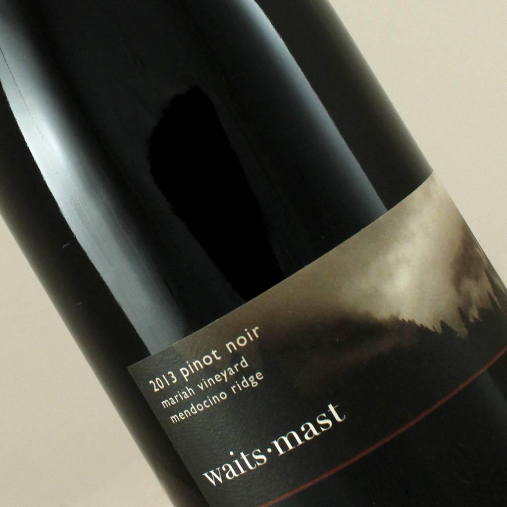 Waits-Mast 2013 Pinot Noir Mariah Vineyard Mendocino County