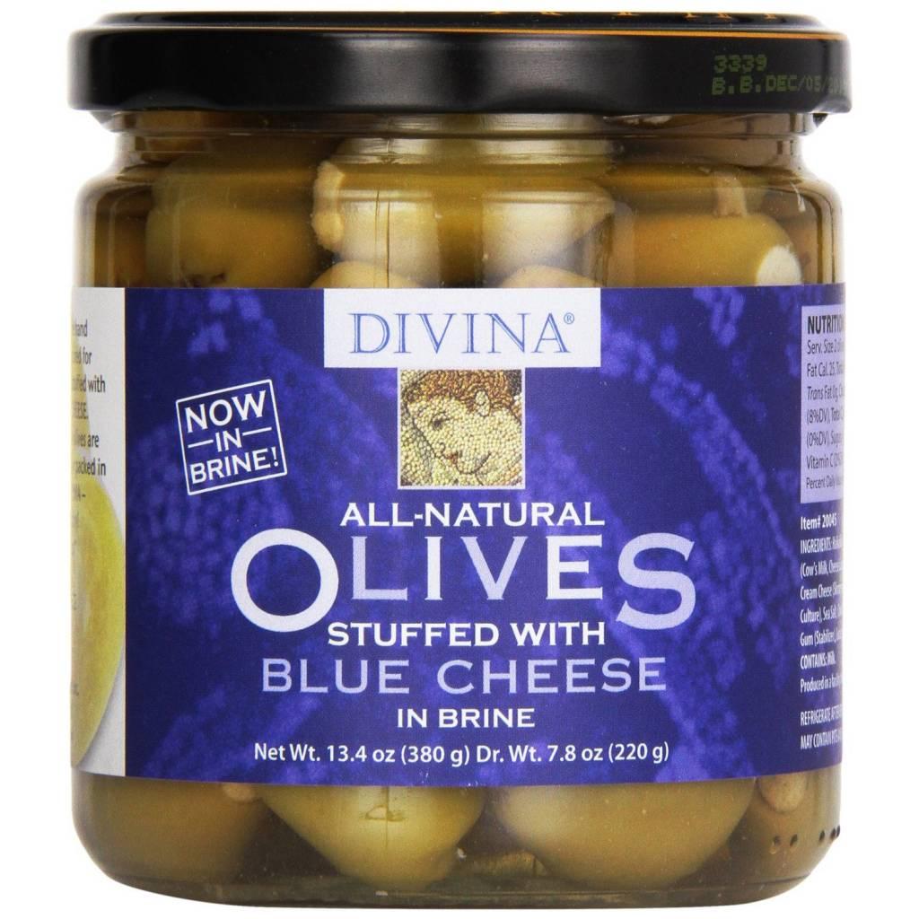Divina Blue Cheese Stuffed Olives (jar), Greece