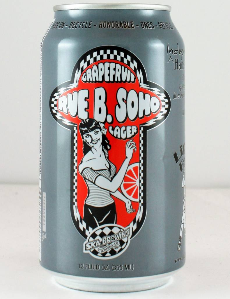"SKA Brewing ""Rue B. Soho"" Grapefruit Lager"