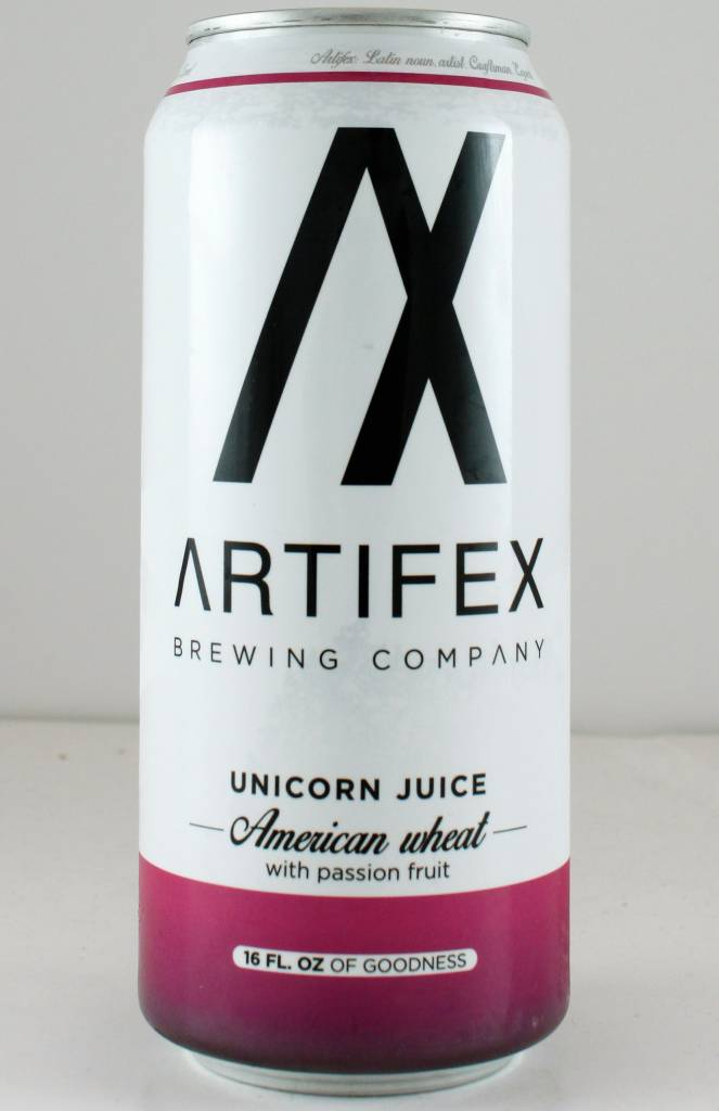 "Artifex Brewing ""Unicorn Juice"" Wheat w/ Passion Fruit, California - 16oz can"