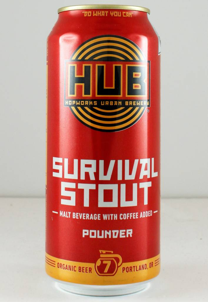 "HUB ""Survival Stout"", Oregon - 16oz can"