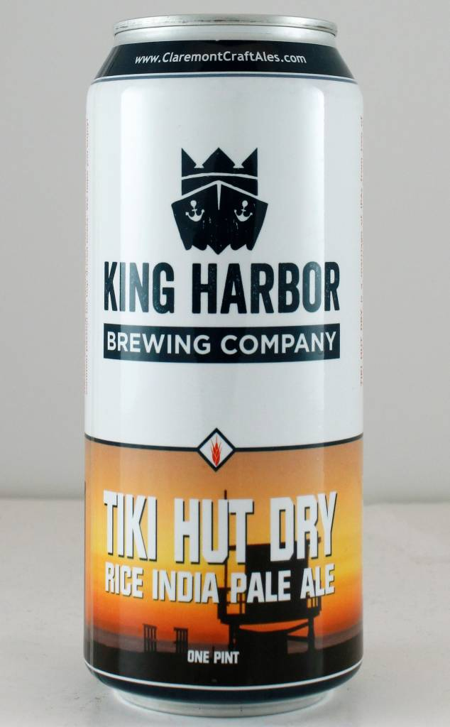 "Claremont Brewing ""Tiki Hut Dry"" IPA - 16oz can"