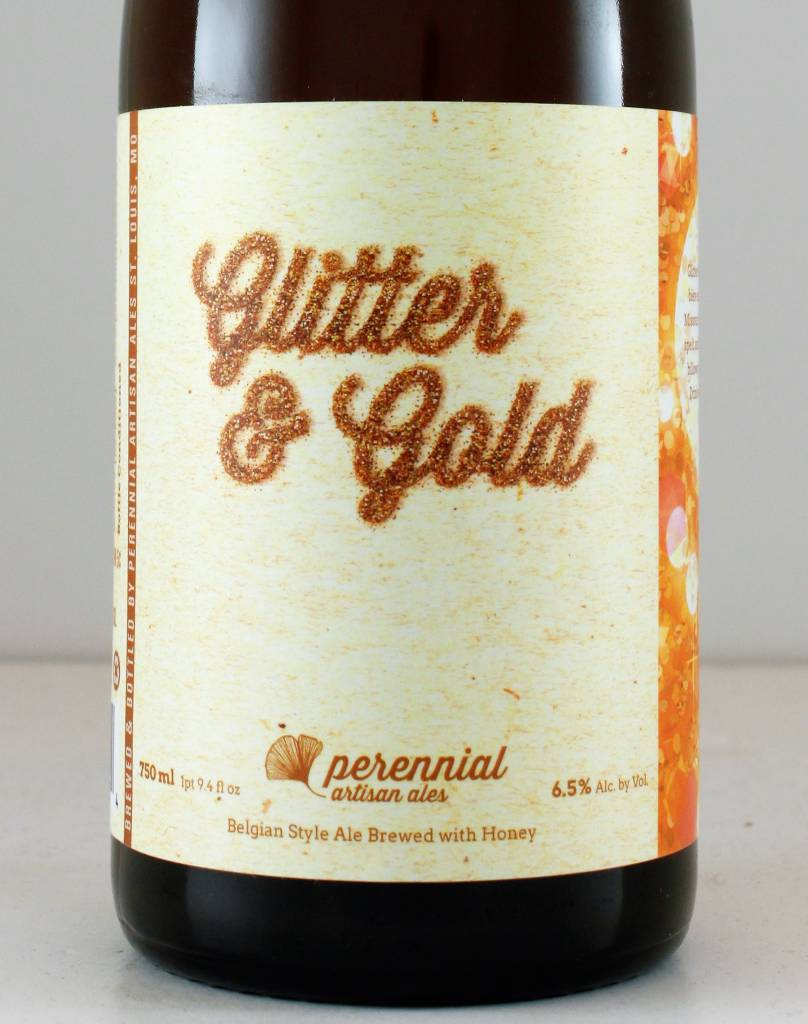 "Perennial Artisan Ales ""Glitter & Gold"" Belgian Style Ale With Honey, Missouri"