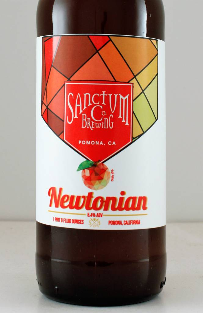 "Sanctum Brewing ""Newtonian"" Ale Brewed with Apples, California"
