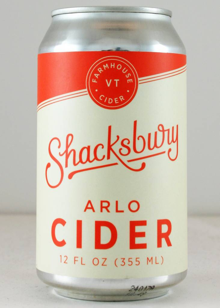 "Shacksbury ""Arlo"" Cider 12oz can, Vermont"