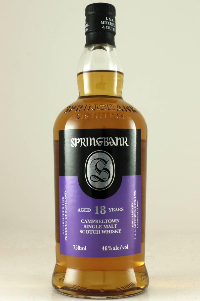 Springbank 18 Year Campbeltown Single Malt Scotch Whisky