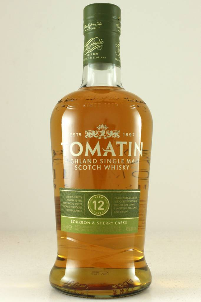 Tomatin 12 year old Single Malt Highland Scotch Whiskey, Scotland