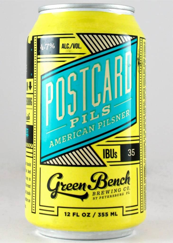Green Bench Postcard Pils