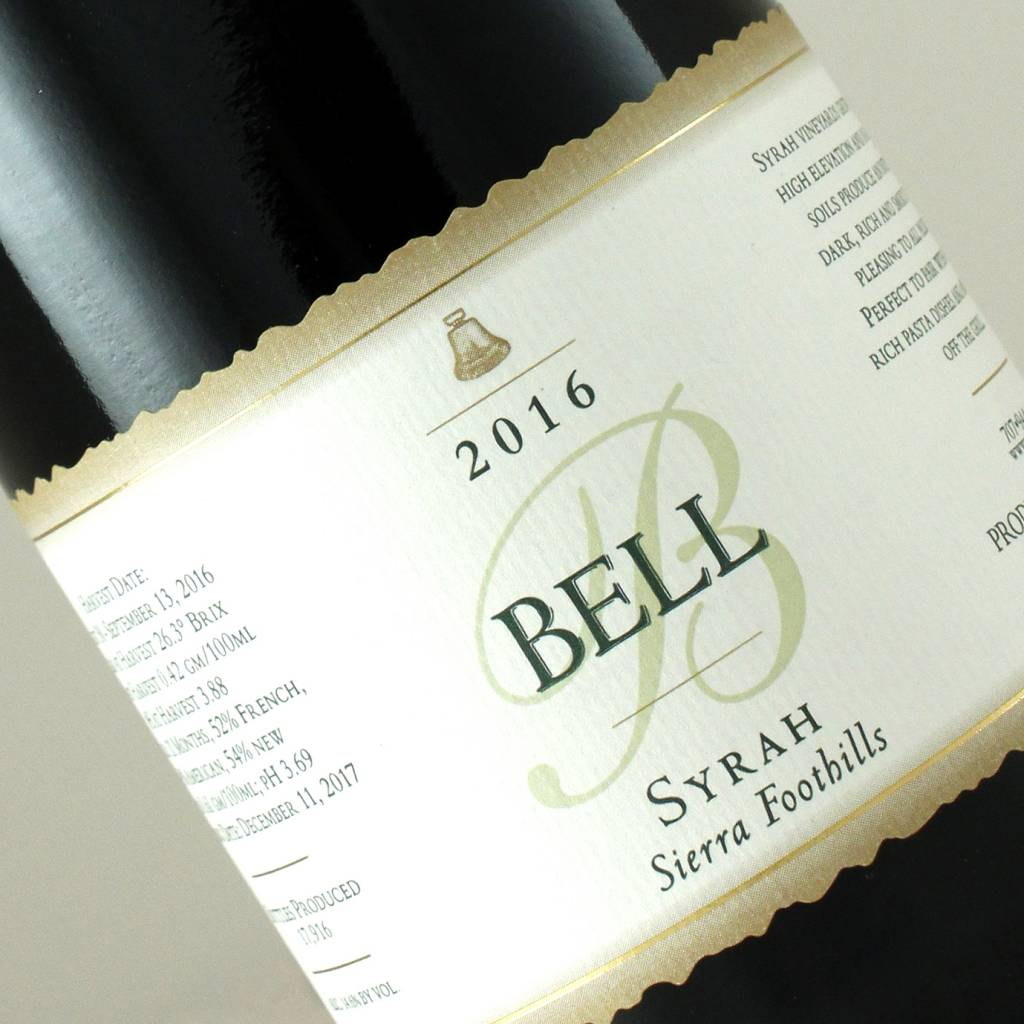 Bell 2016 Syrah Sierra Foothills