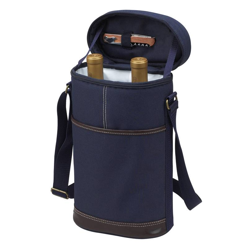 Picnic at Ascot Two Bottle Wine Tote - Navy