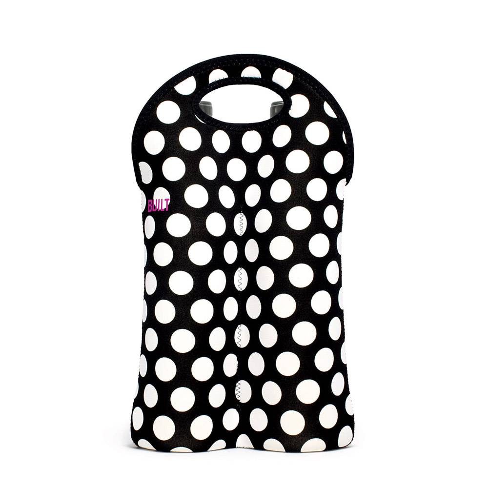 Built New York 2-Bottle Wine Tote Big Dot Black & White