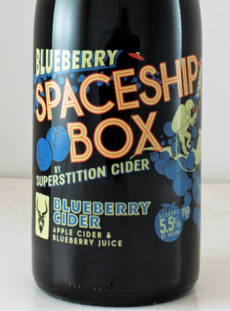"Superstition Cider ""Blueberry Spaceship Box"""