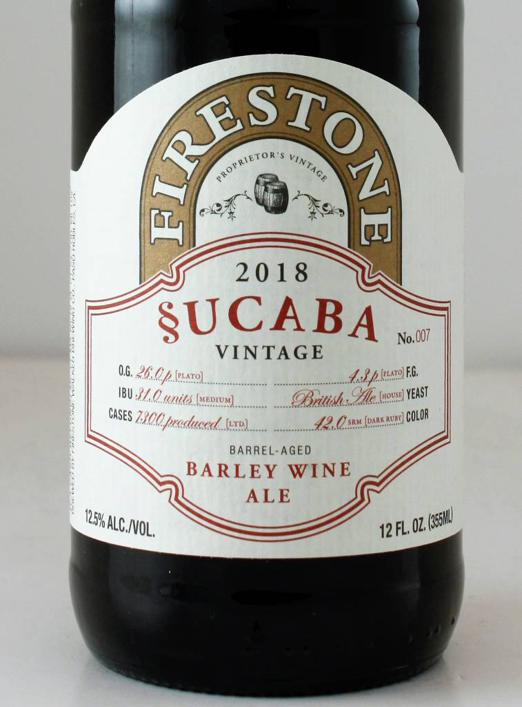 "Firestone Walker Brewing ""2018 Sucaba"" Barleywine"