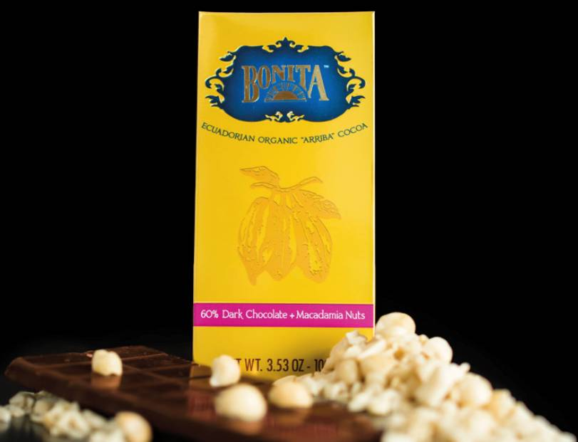 Bonita 60% Dark Chocolate & Macadamia, Ecuador