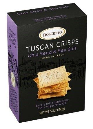 Dolcetto Tuscan Crisps Chia Seed & Sea Salt