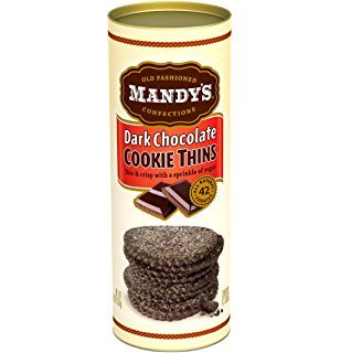 Mandy's Dark Chocolate Cookie Thins, California 4.6oz