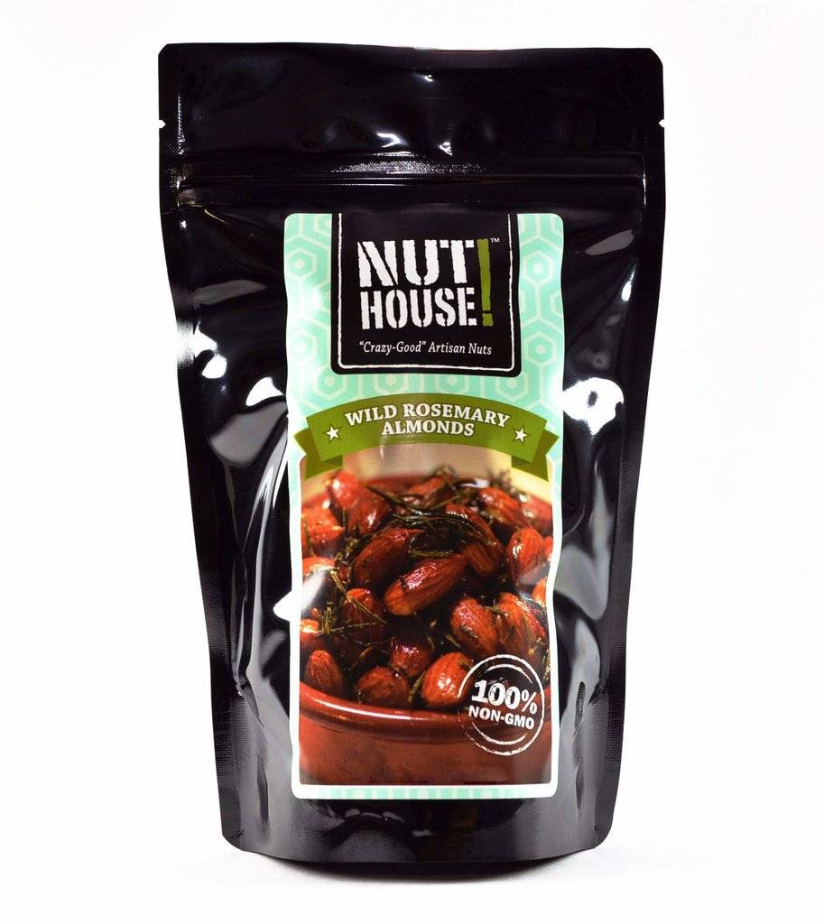 Nuthouse Wild Rosemary Almonds, 4 ounce bag