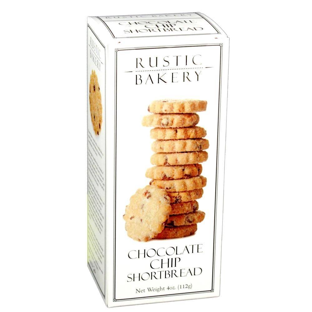 Rustic Bakery Chocolate Chip Shortbread Petaluma 4oz Box