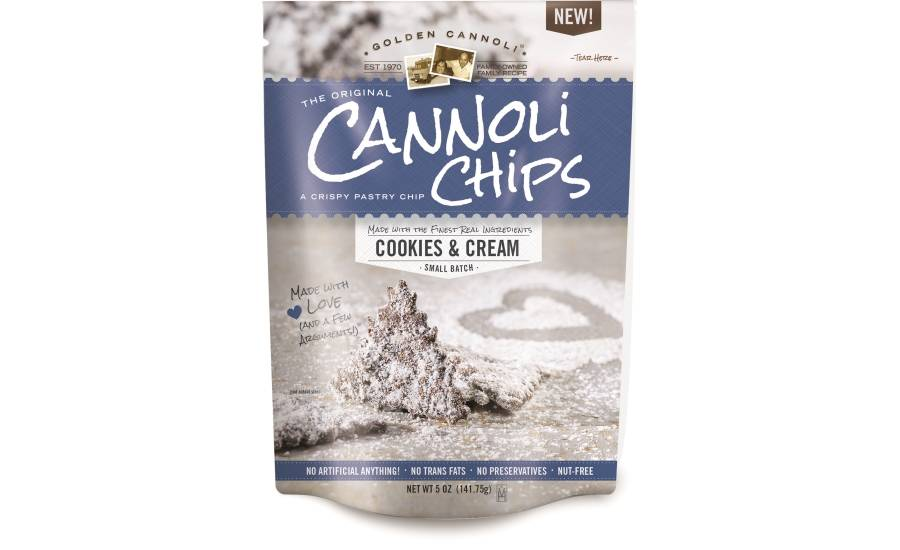 Golden Cannoli Cannoli Chips Cookies & Cream, Massachutsetts