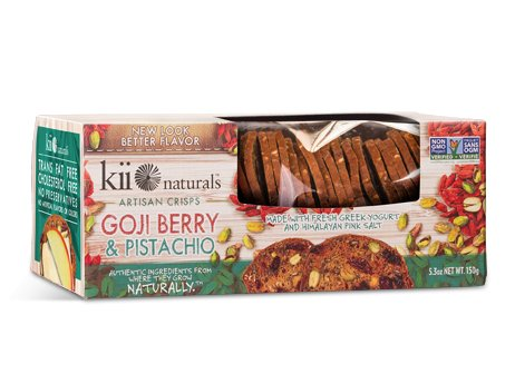 Kii Naturals Goji Berry & Pistachio Artisan Crisps