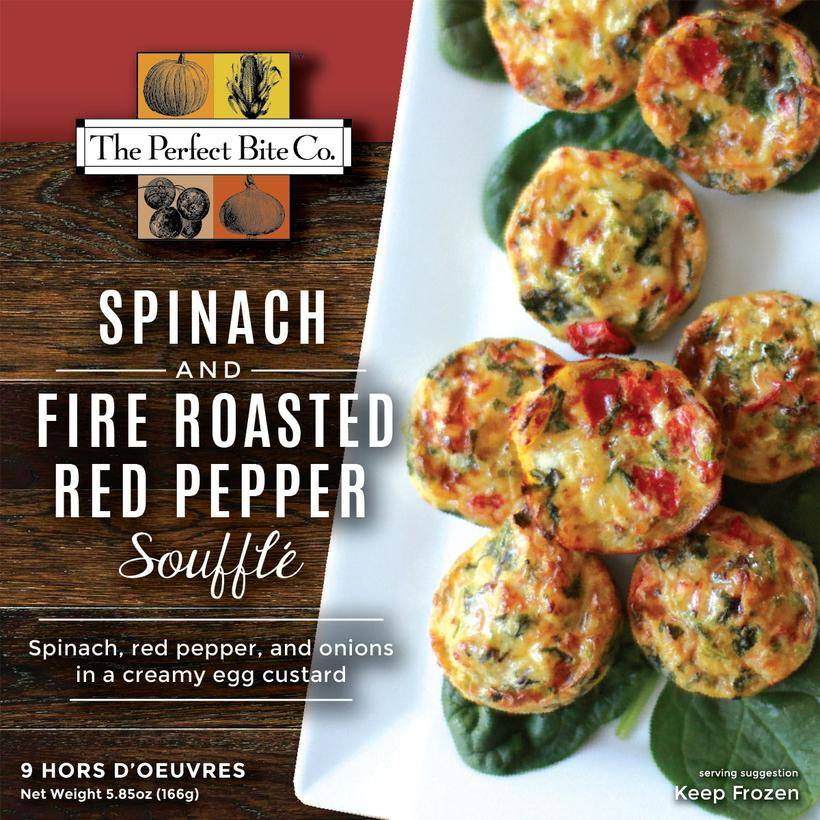 The Perfect Bite Company Spinach & Fire Roasted Red Pepper Souffle