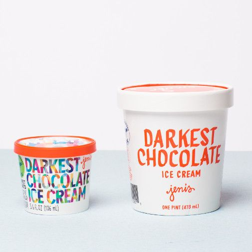 Jeni's Darkest Chocolate Street Treats Ice Cream 3.6 oz.