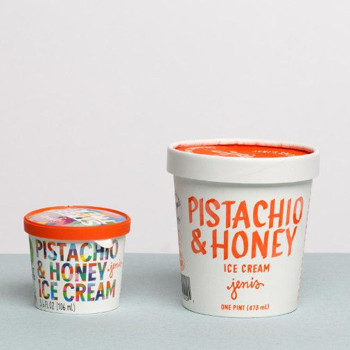 Jeni's Pistachio & Honey Street Treats 3.6 oz.