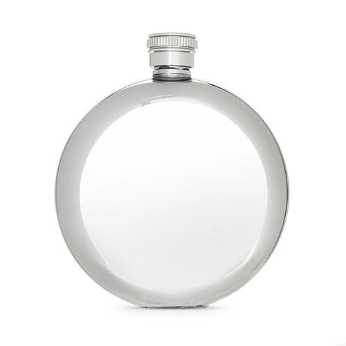 True Glint Stainless Steel Circle Flask 5 oz