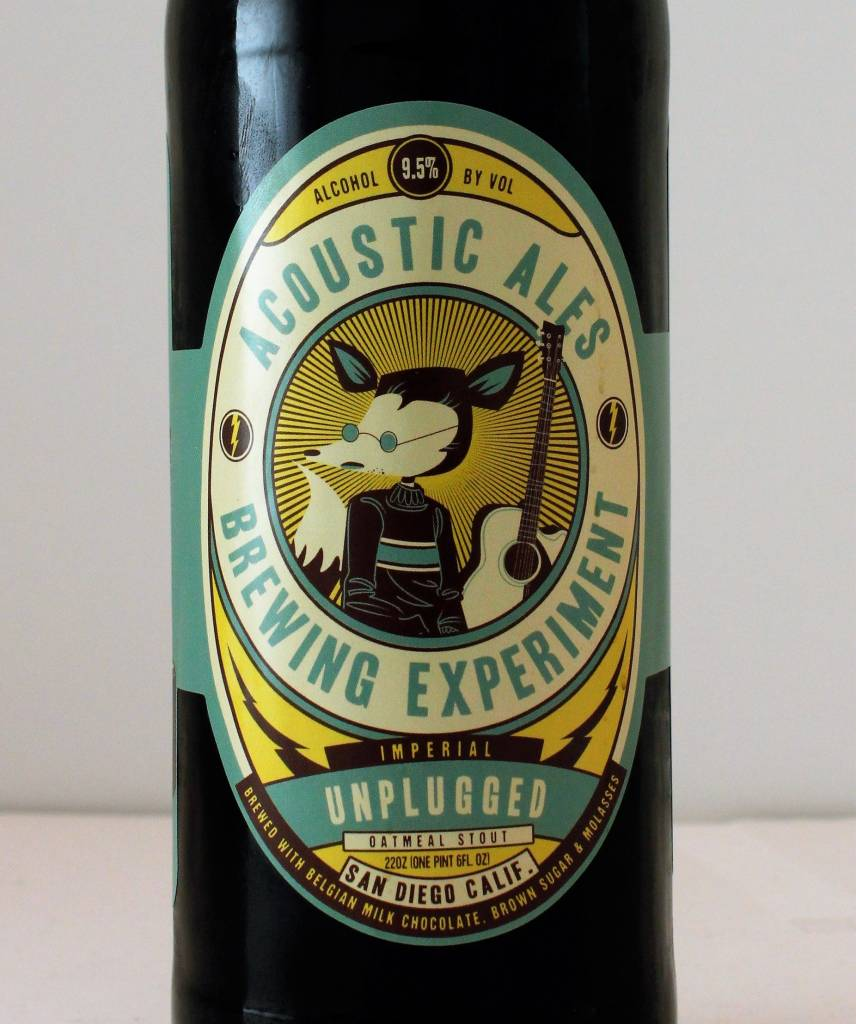 "Acoustic Ales Brewing Experiment ""Unplugged Imperial Oatmeal Stout"", California"