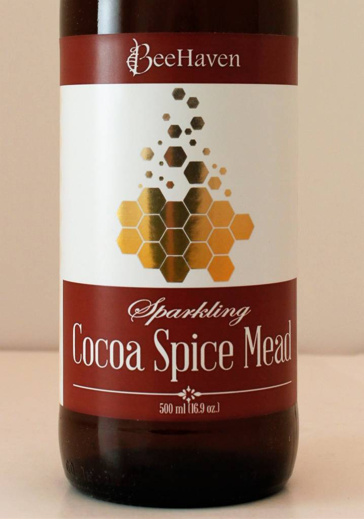 BeeHaven Sparkling Cocoa Spice Mead, Washington