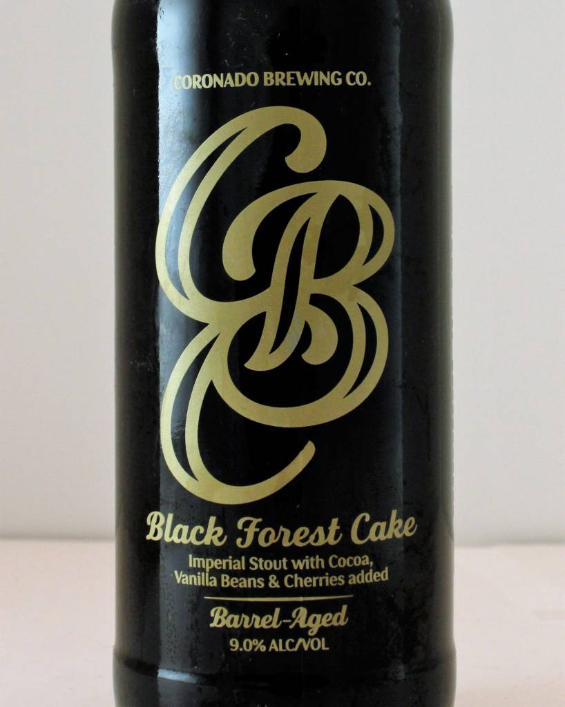 "Coronado Brewing ""Black Forest Cake"" Barrel-Aged Imperial Stout with Cocoa, Vanilla and Cherries, California"