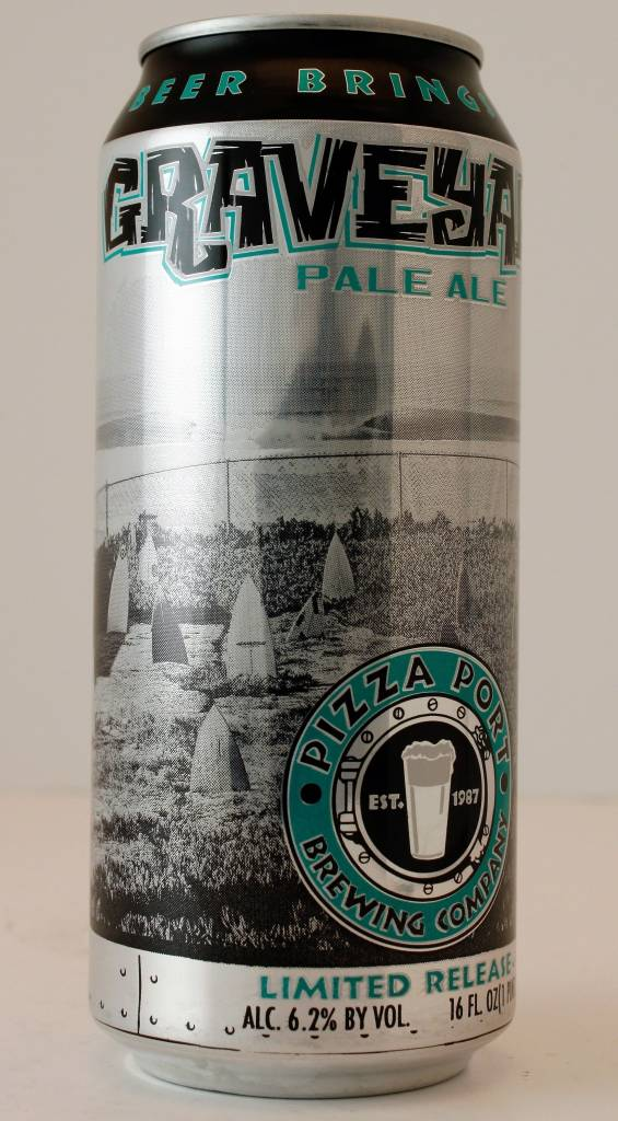 """Pizza Port Brewing """"Graveyard"""" Pale, California - 16oz can"""