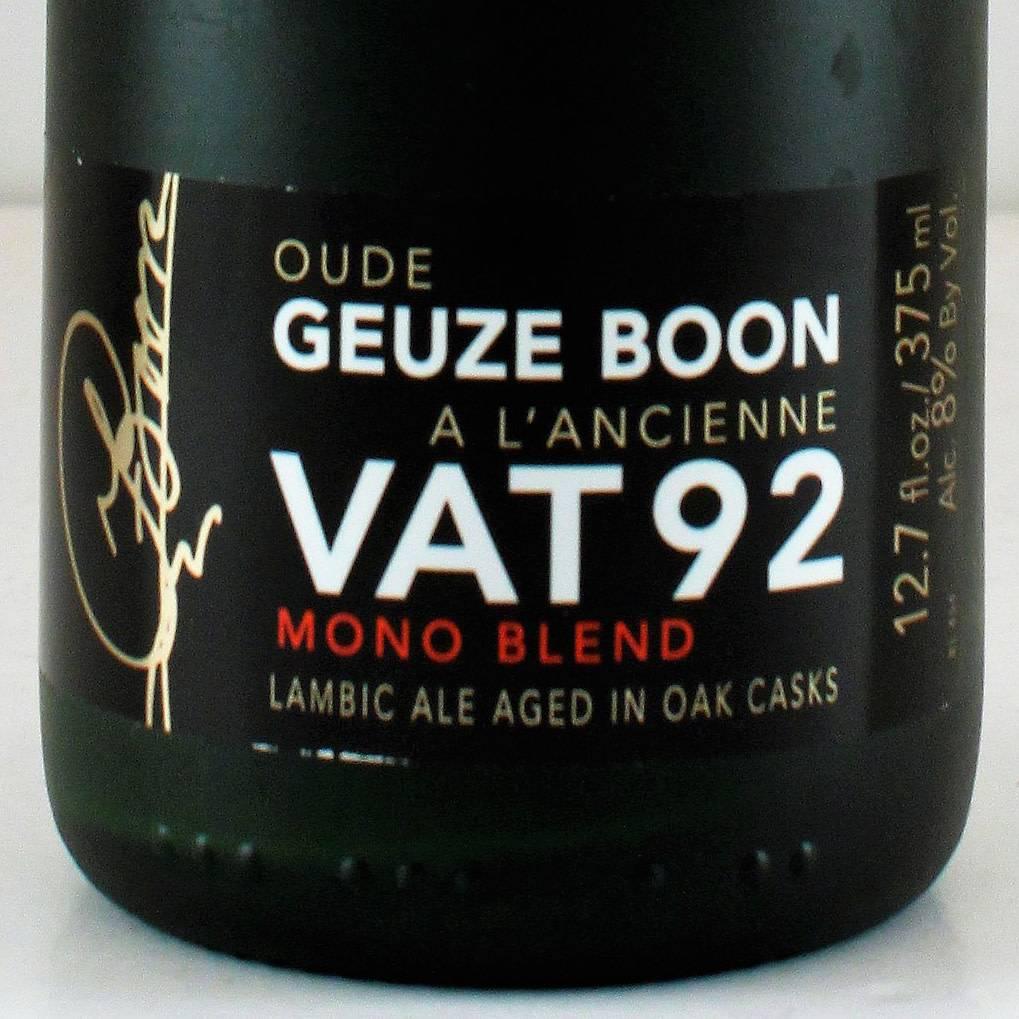 """Boon Vat Geuze """"Vat 92"""", Belgium - 375ml"""