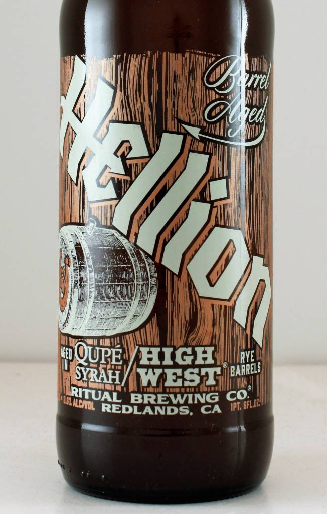"""Ritual Brewing """"Barrel-Aged Hellion"""" Blended Beer, California"""