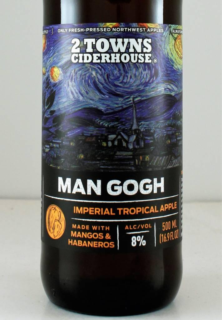 "2 Towns Ciderhouse ""Man Gogh"" Imerial Tropical Apple"