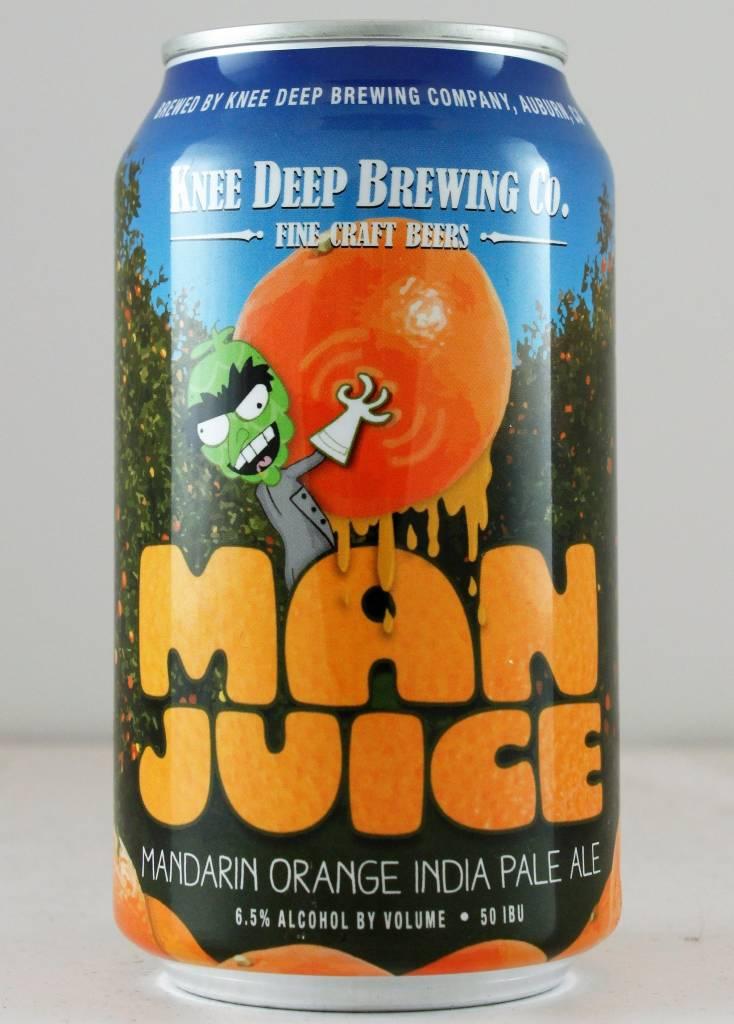 """Knee Deep Brewing """"Man Juice"""" IPA - 12oz can"""