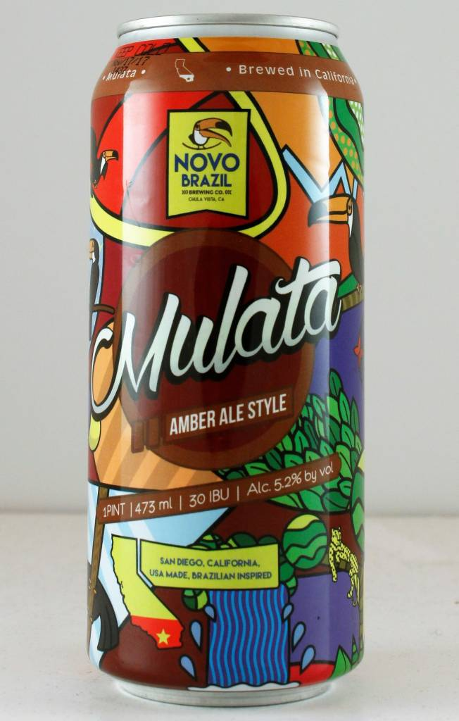 "Novo Brazil "" Mulata"" Amber, California - 16oz can"