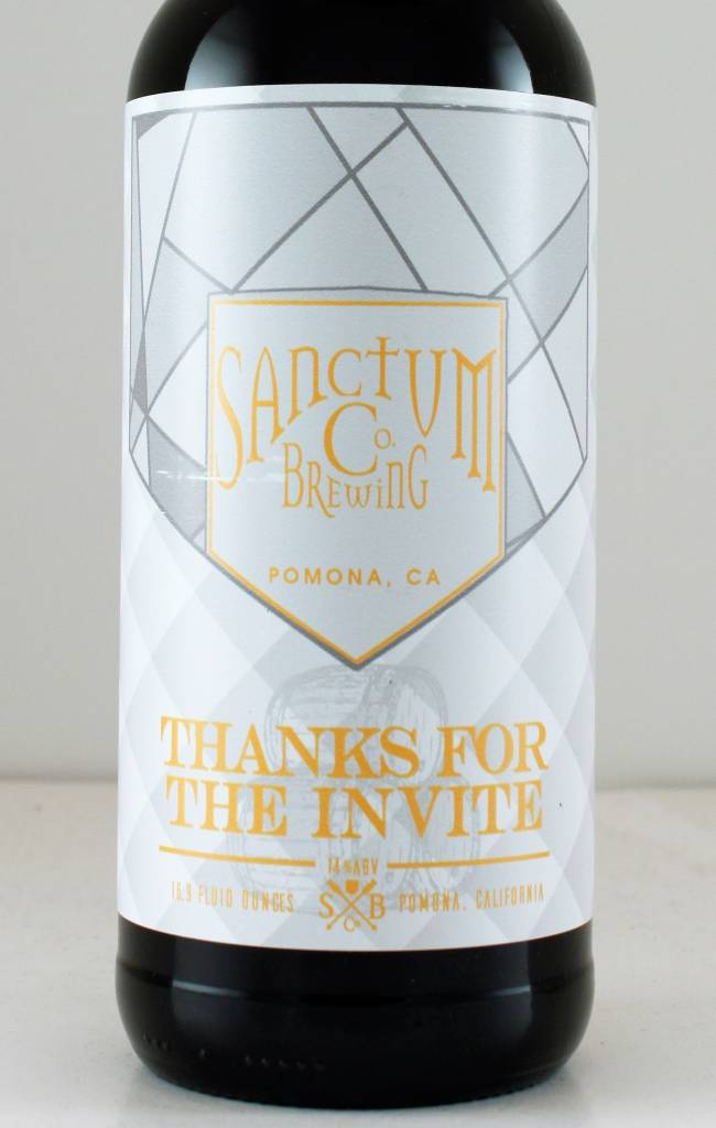 "Sanctum Brewing ""Thanks for the Invite"" American Strong Ale, California"