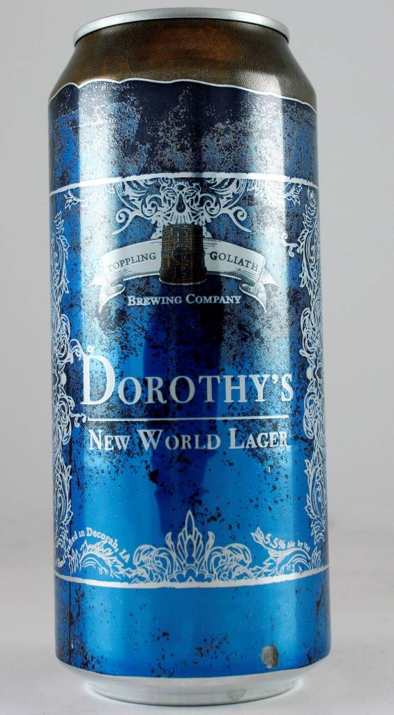 "Toppling Goliath ""Dorothy"" New World Lager, Iowa - 16oz can"