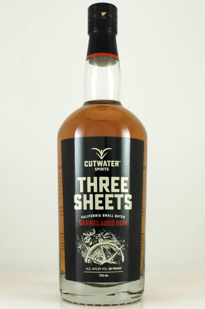 "Cutwater ""Three Sheets"" California Small Batch Barrel Aged Rum, California"