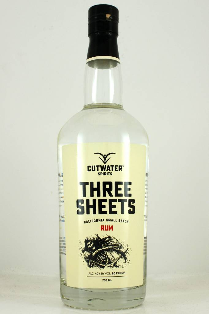 "Cutwater ""Three Sheets"" California Small Batch Rum, California"