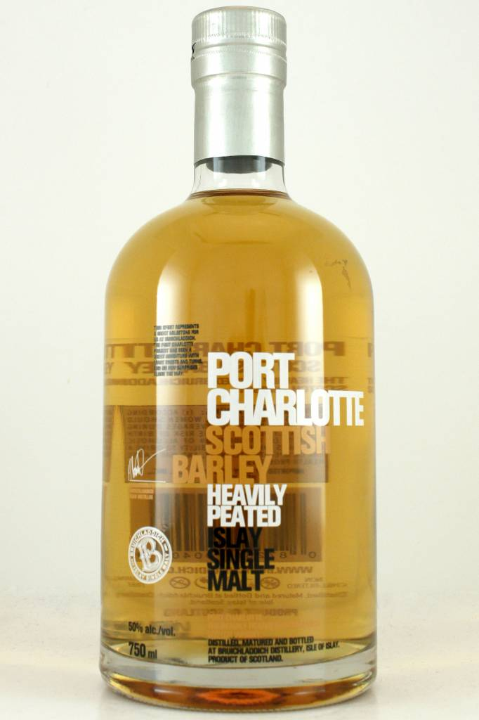 Bruichladdich Port Charlotte Heavily Peated Scottish Barley Islay Single Malt Scotch Whisky Grey Tin