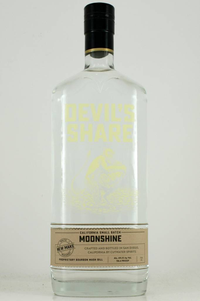 Cutwater Devil's Share Moonshine Small Batch White Whiskey