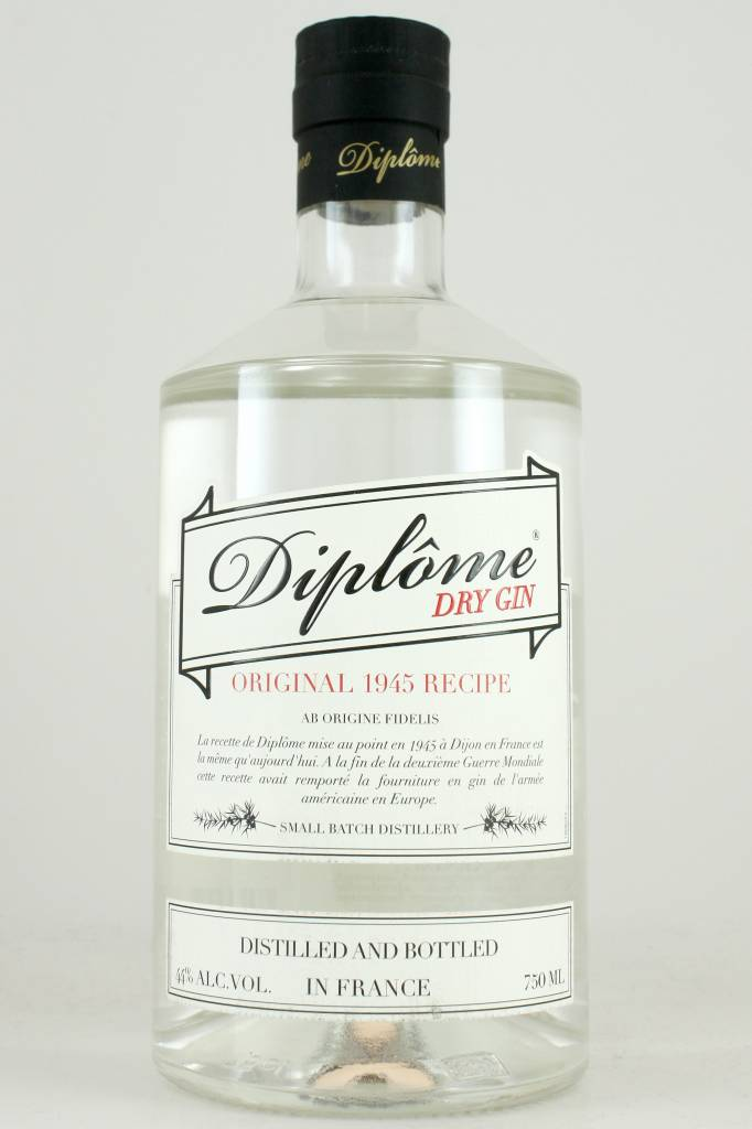 Diplome Dry Gin, France