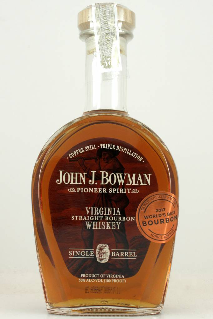 John J. Bowman Single Barrel Virginia Straight Bourbon, Virginia